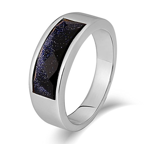 Epinki anello acciaio inossidabile uomo punk anelli viola zirconi alta lucido rotondo 7mm argento anello taglia 17