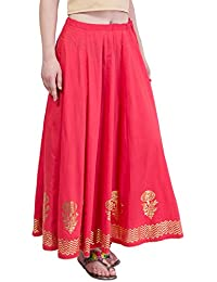 PinkSky Red Flared Skirt