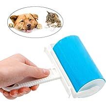 UEETEK Pet Hair Fluff removedor de polvo lavable reutilizable Sticky Lint rodillo limpiador conjunto (azul