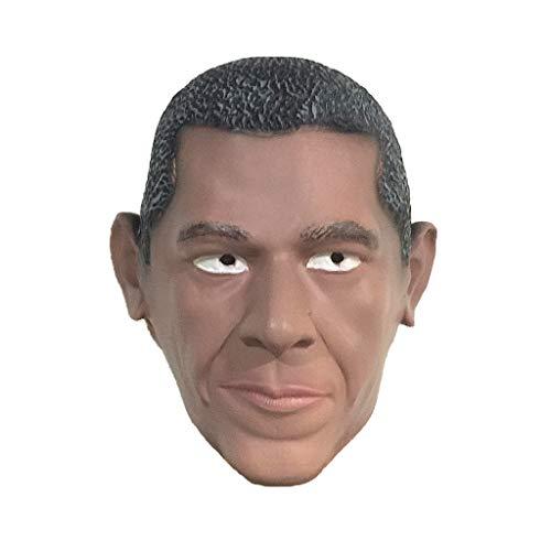 Maske Obama Latex Kopfbedeckung Lustiger Maskerade Kopfschmuck ()