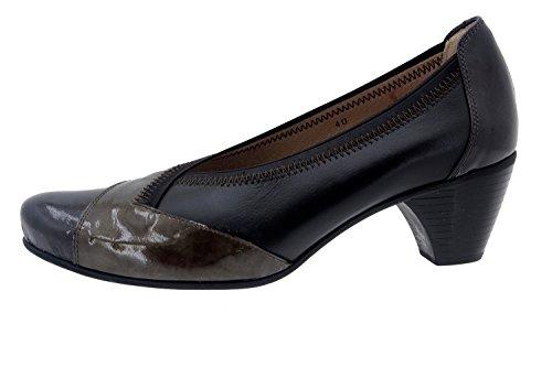 Scarpe donna comfort pelle Piesanto 5408 scarpe casual comfort larghezza speciale Gris/Piel