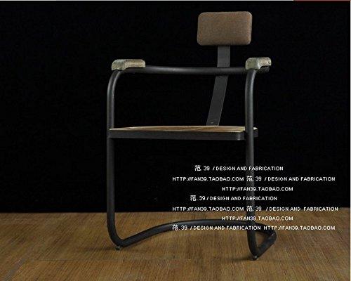 CRYSQD-sedia, vintage legno ferro ristorante, pasti informali ufficio  Scrivanie bracciolo Computer sedie, sgabelli,Nero \