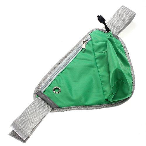 MaMaison007 Marsupio multifunzione esecuzione jogging Waterbottle pacchetto Trangle Pouch -Green