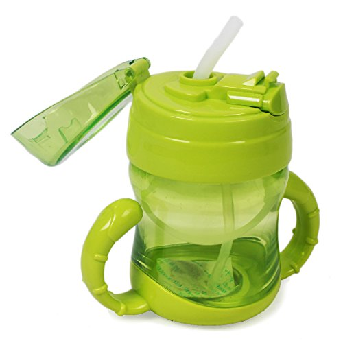 Ebee Baby Straw Cup Sipper with Cover 200ml 12 months+ (Light Green )
