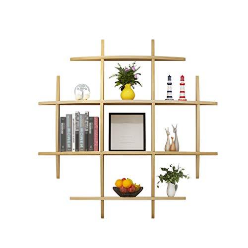 Wall Shelves - Estante de Pared Creativo Minimalista Repisa Sala de Estar Dormitorio Cena Decoración de Pared Marco Home Decor Storage Racks (Color : A)