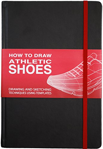 How To Draw: ATHLETIC SHOES Sketchbook -Black -