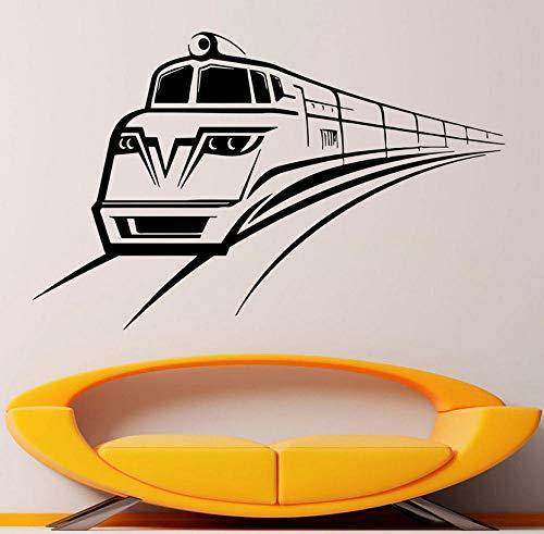 Train Wall Decal Locomotive Subway Station Porte Fenêtre Vinyle Autocollant Salon Salle De Jeux Intérieur Décor À La Maison Art Papier Peint 57x36 cm