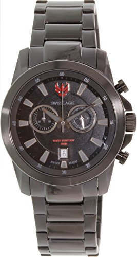 Swiss Eagle SE-9055-77 Zermatt  - Wristwatch men's, Stainless steel plated, Band Colour: Black