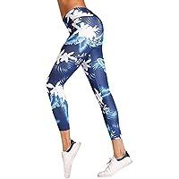Leggins de Mujer,Lunule Mujeres Legging Push Up Estampado Floral Pantalones Mallas Fitness Moda Leggin Yoga de Running