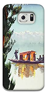 The Racoon Grip printed designer hard back mobile phone case cover for Samsung Galaxy S6. (Kashmir)