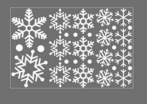 Große schneeflocke dekoration fensterglas aufkleber persönlichkeit shop szene layout fenster blume kleid einfügen weiß 16