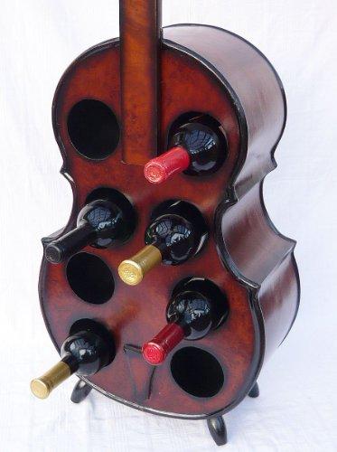 Flaschenhalter Cello Weinregal 102cm Flaschenregal Flaschenständer aus Holz