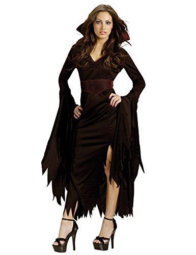 KULTFAKTOR GmbH Gothic Vampirin Halloween Damenkostüm schwarz S / M
