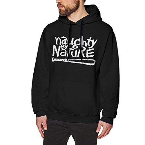 Naughty by Nature Hip Hop Mens Long Sleeve Sweatshirts Men Hoodies Black (Sweatshirt Zip-hood Star)