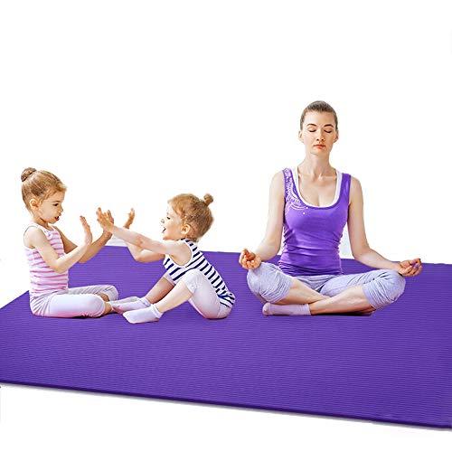 Saturey Doppelte Übung Yoga-Matte, Fitnessmatte Trainingsmatte Alle Arten von Yoga, Pilates und Bodenübungen,Purple -