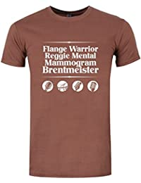 Foregone Conclusion Line-Up Men's T-Shirt Brown