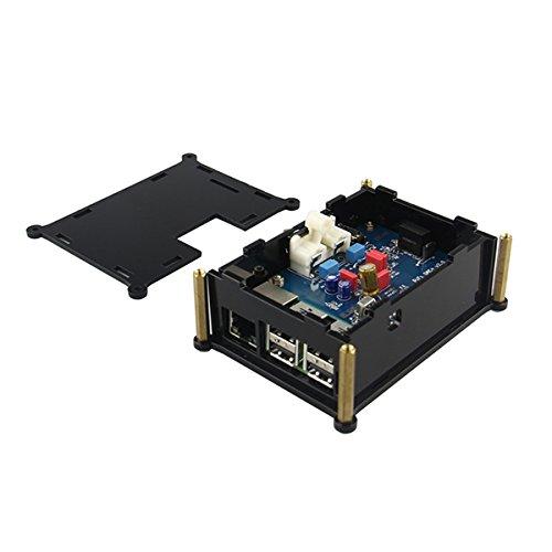 LaDicha PiFi HiFi DAC + Scheda Audio Digitale Bacheca con Custodia per Raspberry Pi 2 Modello B/B + / A +