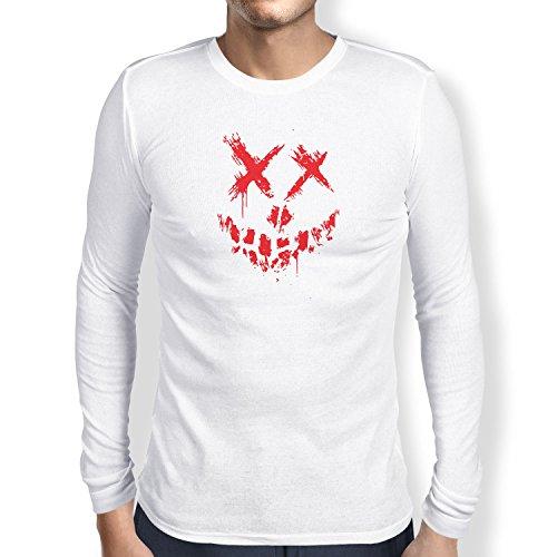 Texlab Suicide Crew - Herren Langarm T-Shirt, Größe XXL, Weiß