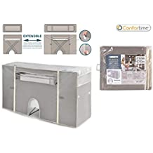 Dream Hogar Funda Cubre tendedero para Ropa para Calefactor Ajustable a Todos los tendederos Gris 180x106x56