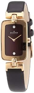 Skagen Damen-Armbanduhr Analog Quarz Leder H01SRLD