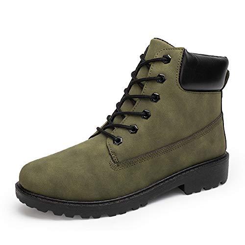 XI-GUA Mode Stiefel aus weichem Leder warme Freizeitschuhe Herbst und Winter Arbeit Stiefel Wasserdichte Rutschfeste Schuhe