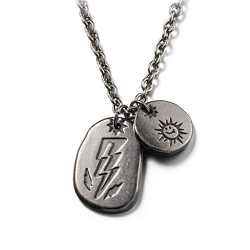 SJY Halskette Titanium Stahl anhänger männer Metall Halskette Paar Langen Abschnitt Halskette Kleidung einfache zubehör Retro Europa und Amerika Halskette persönlichkeit schmuck ()