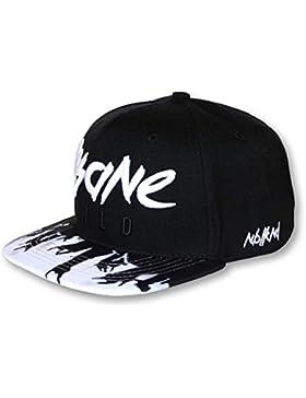 Nebelkind Snapback Cap schwarz-weiß Rock-Style onesize unisex