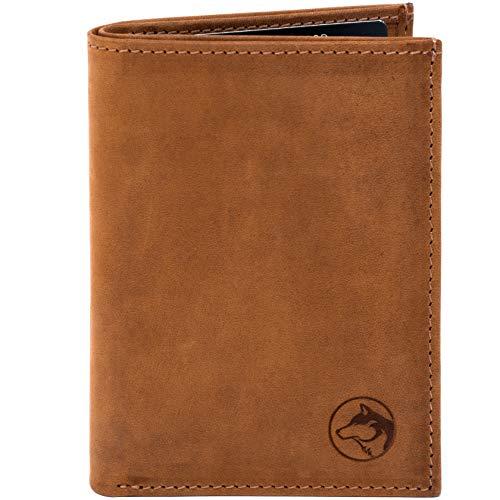 Wolfstrøm Geldbörse Sveynå - Hochformat Wallet ohne Münzfach, mit RFID-Blocker - Herren-Portemonnaie mit Scheinfach, Herren-Geldbörse, Herren-Geldbeutel, Portmonee - Whiskey