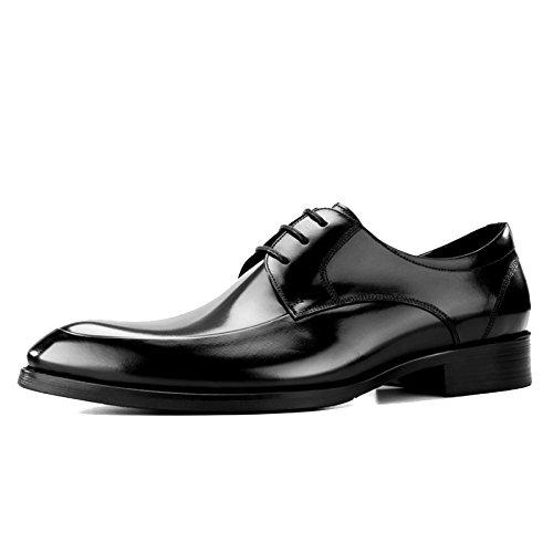 eder Tilden Walk Derbys Spitz Zehen Brogues Schuhe Business Anzug Schnürschuhe Schuh Formale Schuh Für Herren Herr Hochzeit Abend Arbeit Party,Black-43 ()