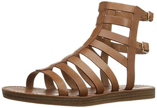 Steve Madden Women's Beeast Gladiator Sandal, Tan Leather, 7.5 M US (Madden Steve Gladiator)