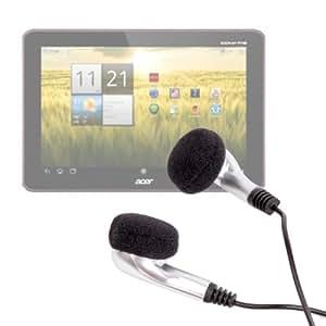 DURAGADGET Ecouteurs pratiques et confortables pour tablette Acer Iconia A700, A200, A210