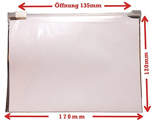 WeltiesSmartTools 50er Pack Gleitverschlussbeute 60µ 170x120mm Zip Beutel Wiederverschließbar mit praktischem Schieber (Kleine Zip-lock-beutel)