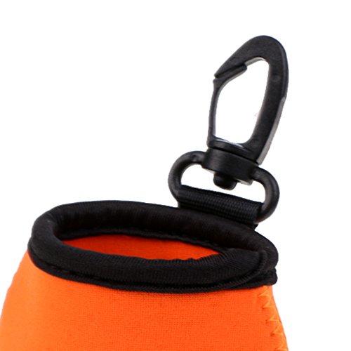 MagiDeal Outdoor Mini Neopren Tasche mit Karabiner, Zusatztasche, Zubehörtasche für Handtuch Münze Schlüssel Handytasche, Rucksack zu hängen Pouch, Mini Gürteltasche Orange