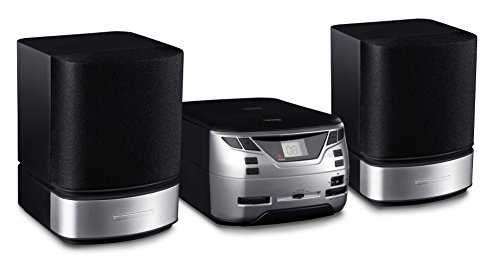 Nikkei NMC321 Mini Radioset CD-Spieler | mp3 CD-Player | Microset Radio Stereo | 2X 5 Watt | Aux-in | LCD Bildschirm | FM | Schwarz