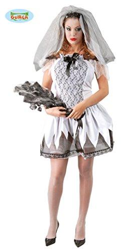tote Braut Halloween Horror Hochzeit Party Kostüm für Damen Leiche Gr. XS-M, Größe:XS-S