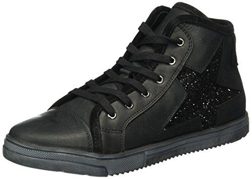 Lepi 3096LEQ, Sneaker alta bambina Nero (Schwarz (3096 C.15 NERO))