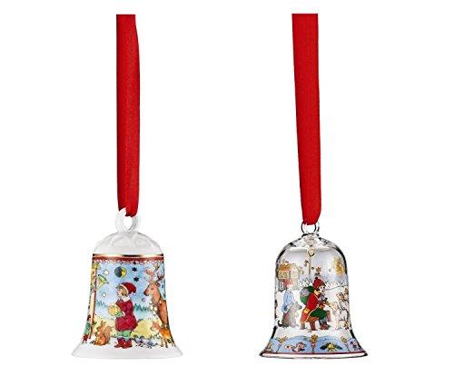 Hutschenreuther Porzellan Weihnachts Glocke 2016 und Glas Glocke 2016 in den Originalverpackungen (2er Set)