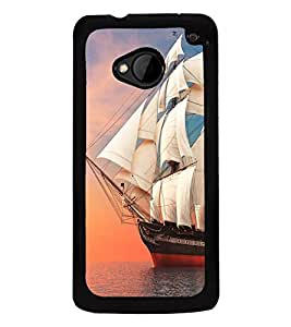 Ship in the Sea 2D Hard Polycarbonate Designer Back Case Cover for HTC One :: HTC One M7