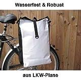 Gravidus Fahrradtasche aus LKW-Plane, wasserdicht (Weiß)