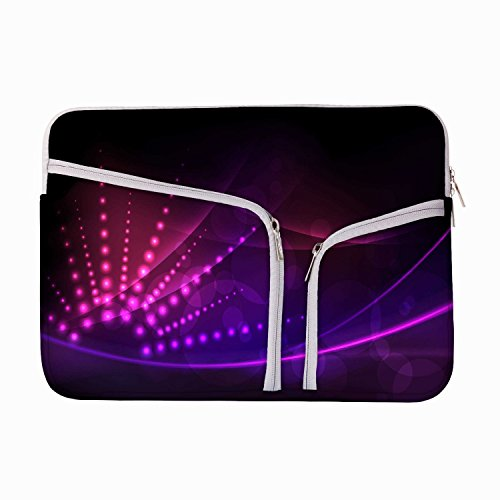 Abstrakt Neon Design 13 zu 34,5 cm Schutzhülle Sleeve Tasche für MacBook Air 13/Pro 13 Retina/Oberfläche Book/iPad Pro & 33 cm Acer Dell HP Toshiba Saumsung Asus Chromebook Laptops (türkis) (Neon Macbook Air 13 Zoll Case)