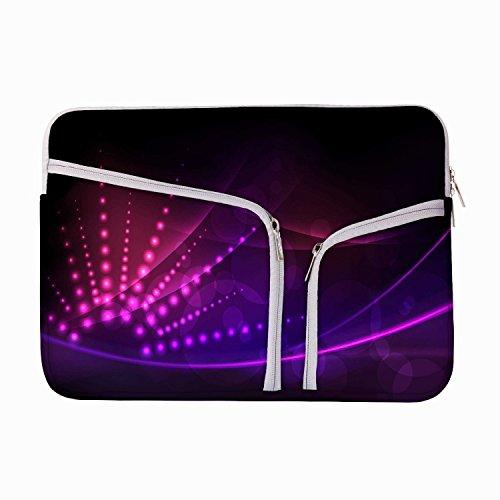 Abstrakt Neon Design 13zu 34,5cm Schutzhülle Sleeve Tasche für MacBook Air 13/Pro 13Retina/Oberfläche Book/iPad Pro & 33cm Acer Dell HP Toshiba Saumsung Asus Chromebook Laptops (türkis) (Neon Macbook Air 13 Zoll Case)