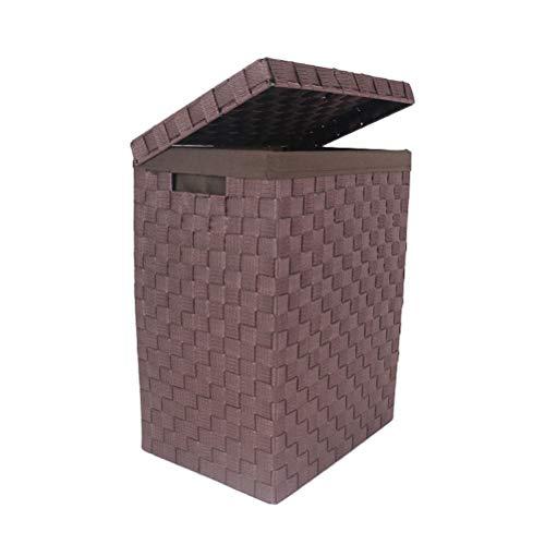 Han naa cesta del cesto della biancheria, cestino di lavaggio tessuto domestico con la fodera, scatola di immagazzinaggio di plastica dei giocattoli dei vestiti alla moda del cestino con le maniglie