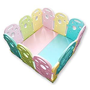 Baby Playpen - Children'S Safety Toys Crawling Mat - Activity Center - Environmental Hdpe - Suitable For 0-6 Children-11 Activity Panel - Rugged - Waterproof   2