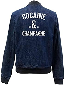 Cocaine & Champagne Bomber Chaqueta Girls Jeans Certified Freak