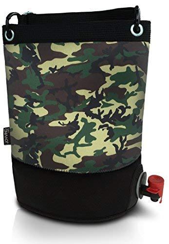 Weintasche und Getränkespender - Weintüte 3L für das Bag-In-Box - Einfach zu Handhabende Inner Tasche - Perfekt Egal ob Drinnen oder Draußen und Für Jedes Getränk: Wein, Sangria und Saft (Tarnung)
