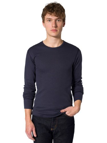 American Apparel Baby Thermal Long Sleeve T-Shirt - Navy / XL -