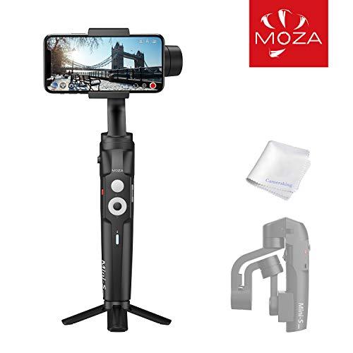 MOZA Mini S Stabilisateur Pliable pour Smartphone/Stabilisateur à Cardan 3 Axes pour Caméra Intelligente pour l'enregistrement en Mouvement