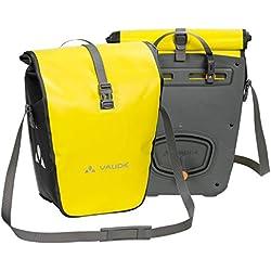 Vaude Aqua Back Juego De 2 Bolsas Para Bici Adaptables E Impermeables Color Amarillo Talla Única