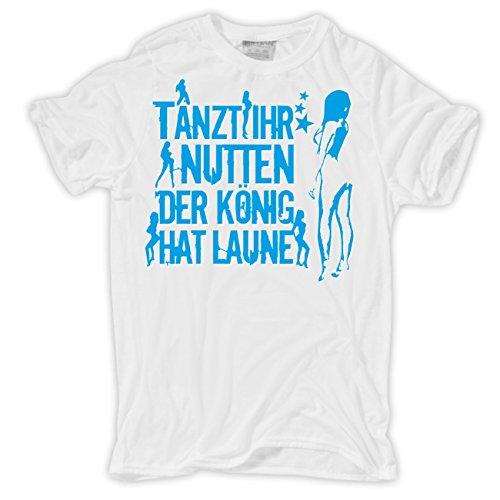 Männer und Herren T-Shirt Frauenversteher (mit Rückendruck) Körperbetont  weiß