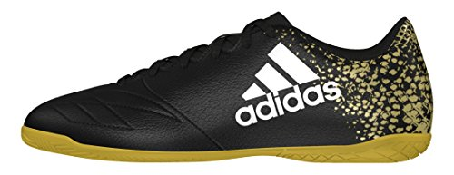 adidas Herren X 16.4 in Fußball-Trainingsschuhe Schwarz (Core Black/Ftwr White/Gold Metallic)